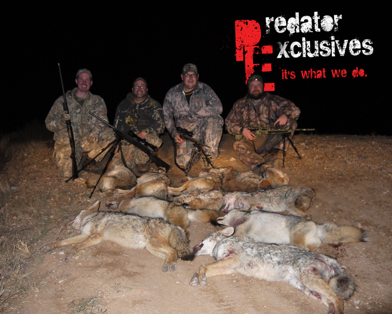 Ian, Brian, Wayne & Justin came out for PA to hunt with Predator Exclusives.