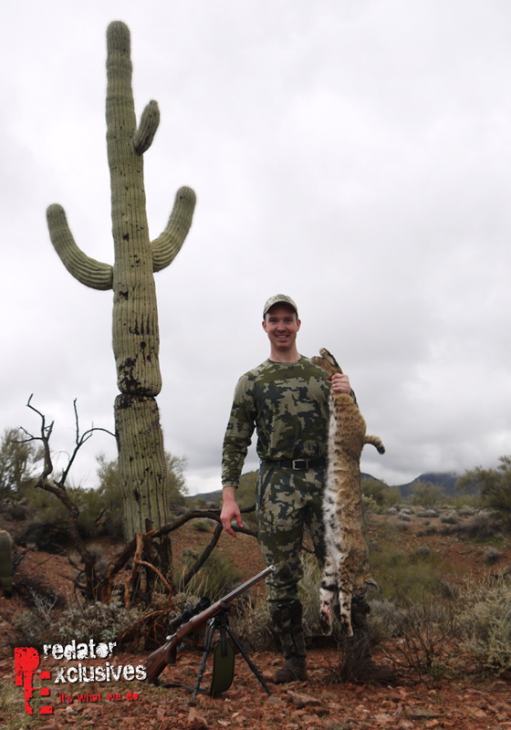 Ian Chappel came out to Arizona again to get a bobcat.